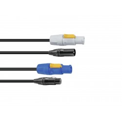Combi Cable DMX PowerCon/XLR 2.5m Sommer cable