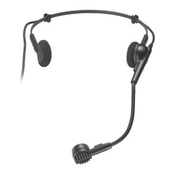 Microfon dinamic hipercardioid tip headband cu terminal pentru transmitator wireless, Audio-Technica PRO8HECW