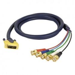 Cablu conector DVI la 5 BNC tata , 1.5 m , DMT FV-32150-1.5m