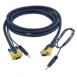 Cablu conector VGA + Audio la VGA + Audio ,6 m , DMT FV-366-6m
