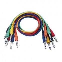 Set 6 cabluri Jack 6.3 mono la Jack 6.3 mono, 0.30 m, DAP-Audio FL-1130-0.30m