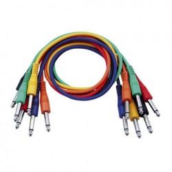 Set 6 cabluri Jack 6.3 mono la Jack 6.3 mono, 1.30 m, DAP-Audio FL-1190-1.30m