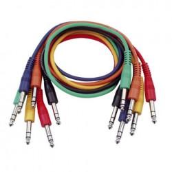 Set 6 cabluri Jack 6.3 stereo la Jack 6.3 stereo, 1 m , DAP-Audio FL-1260-1m