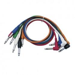 Set 6 cabluri Jack 6.3 mono la Jack 6.3 90°, 0.30 m, DAP-Audio FL-1430-0.30m