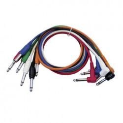 Set 6 cabluri Jack 6.3 mono la Jack 6.3 90°, 1 m , DAP-Audio FL-1460-1m