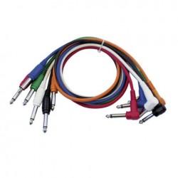 Set 6 cabluri Jack 6.3 mono la Jack 6.3 90°, 1.30 m , DAP-Audio FL-1490-1.30m