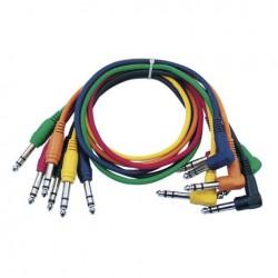 Set 6 cabluri Jack 6.3 stereo la Jack 6.3 90°, 0.30 m , DAP-Audio FL-1530-0.30m
