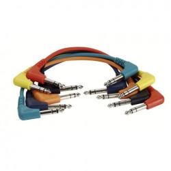 Set 6 cabluri Jack 6.3 90° stereo la Jack 6.3 90° stereo, 1.30 m , DAP-Audio FL-4290-1.30m