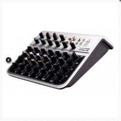 Mixer audio cu 8 canale cu corectie USB si Phantom Power, GEWA MIXER ALPHA AUDIO MIX FOUR USB (170.300)