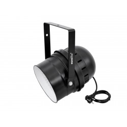 Proiector LED RGBA 10mm si DMX, negru, Eurolite LED PAR-64 RGBA 10mm Short black (51916450)