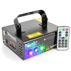 Laser BeamZ Rosu/Verde+Gobo+3w Blue LED DMX IRC Surtur II