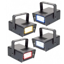 Set 4 Mini-Stroboscoape LED RYBBW 10W