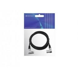 Cablu Omnitronic XLR cable 3pin 3m 90° bk