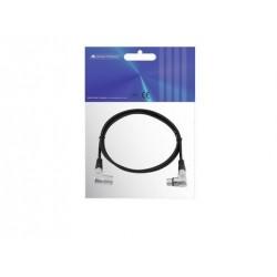 Cablu XLR Omnitronic XLR cable 3pin 1.5m 90° bk
