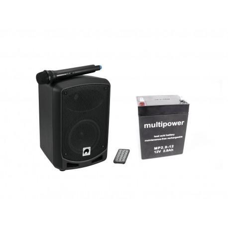 Set sistem wireless portabil PA + baterie, Omnitronic Set WAMS-065BT + Battery