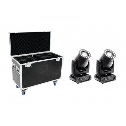 Set 2x Moving Head Eurolite PLB-230 + Case