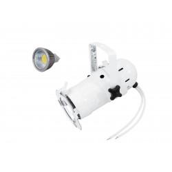 Set PAR-16 Spot wh + MR-16 12V GX-5,3 5W LED COB 6400K Eurolite