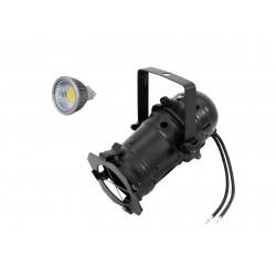 Set PAR-16 Spot bk + MR-16 12V GX-5,3 5W LED COB 6400K Eurolite