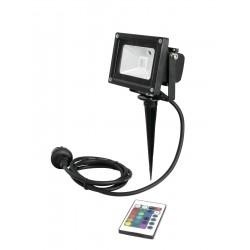 Proiector de interior/exterior cu LED COB RGB 10W, Eurolite LED IP FL-10 COB RGB IR + stake (51914680)