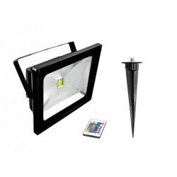 Proiector de exterior cu LED COB RGB 30W, Eurolite LED IP FL-30 COB RGB IR + stake (51914684)