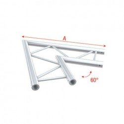 Grinda colt Showtec Corner 60° horizontal Pro-30 Step G Truss