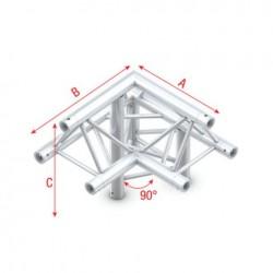 Grinda colt Showtec Corner 90° down right Deco-22 Triangle, apex up