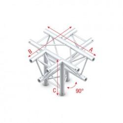 Grinda Showtec Cross + down 5-way, apex up Deco-22 Triangle