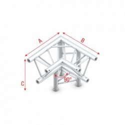 Grinda colt Showtec Corner 90° down right, apex down Pro-30 Triangle P Truss