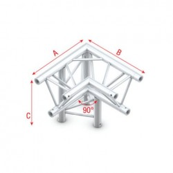Grinda colt Showtec Corner 90° down left, apex down Pro-30 Triangle P Truss