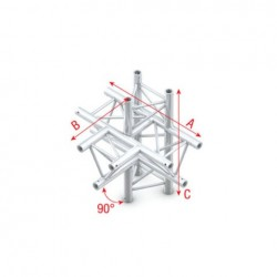 Grinda Showtec T-Cross + up/down 5-way Pro-30 Triangle P Truss