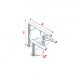 Grinda colt Showtec Corner 90° apex up Pro-30 Triangle F Truss