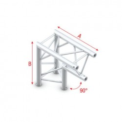 Grinda colt Showtec Corner 90° apex down Pro-30 Triangle F Truss