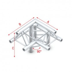 Grinda colt Showtec Corner 90° down right, apex up Pro-30 Triangle F Truss