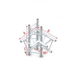 Grinda colt Showtec Corner 90° up/down, right Pro-30 Triangle F Truss