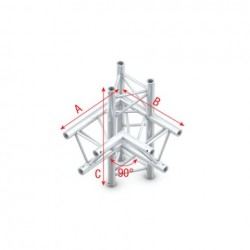 Grinda colt Showtec Corner 90° up/down, left Pro-30 Triangle F Truss