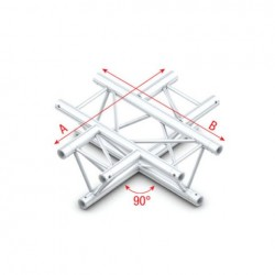 Grinda Showtec 90° 4-way horizontal Pro-30 Triangle F Truss