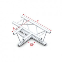 Grinda Showtec 90° 3-way horizontal Pro-30 Triangle F Truss