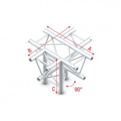 Grinda Showtec Cross + down 5-way, apex down Pro-30 Triangle F Truss