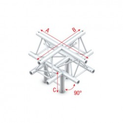 Grinda Showtec Cross + down 5-way, apex up Pro-30 Triangle F Truss
