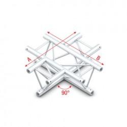 Grinda Showtec 90° 4-way horizontal Pro-30 Triangle G Truss