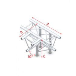 Grinda Showtec T-Cross + Down 4-way Pro-30 Square P Truss