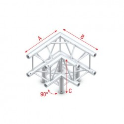 Grinda colt Showtec Corner 3-way 90° Pro-30 Square F Truss