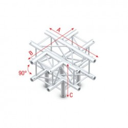 Grinda Showtec Cross + Down 5-way Pro-30 Square G Truss