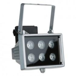 Proiector LED de exterior IP 44 Showtec LED Floodlight 6x 1W, 40 grd