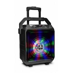 Boxa portabila cu acumulator, microfon, BT si USB Idance Blue-Tank1