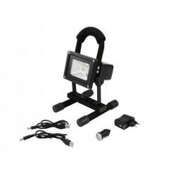 Proiector mobil cu LED COB 3200K, Eurolite AKKU LED IP FL-5 COB 3200K (51914203)