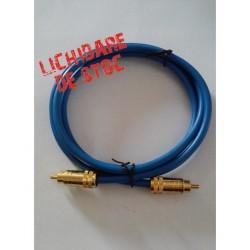Cablu gold RCA la RCA Blue Tech CG-2066BL 1.5m
