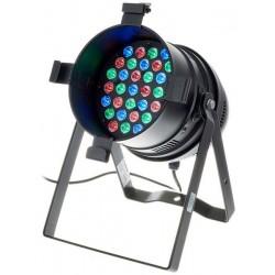 Proiector de podea/truss cu LED, Stairville LED PAR64 36x3W RGB MKII black
