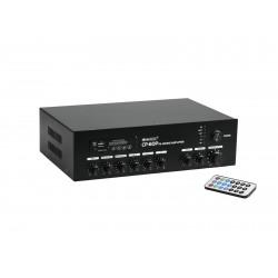 Amplificator-mixer 100V cu player audio si BT Omnitronic CP-60P