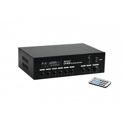 Amplificator-mixer 100V cu player audio si BT Omnitronic CP-30P